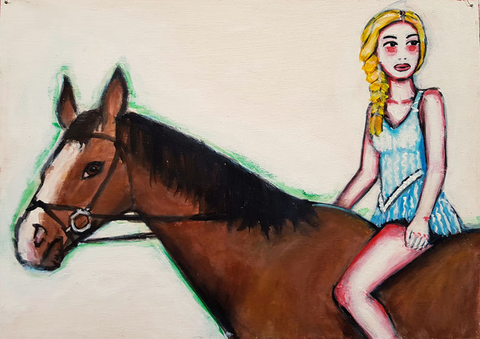 Pferd, Vorlage: Eleanor Hardwick, A4, 500Fr.