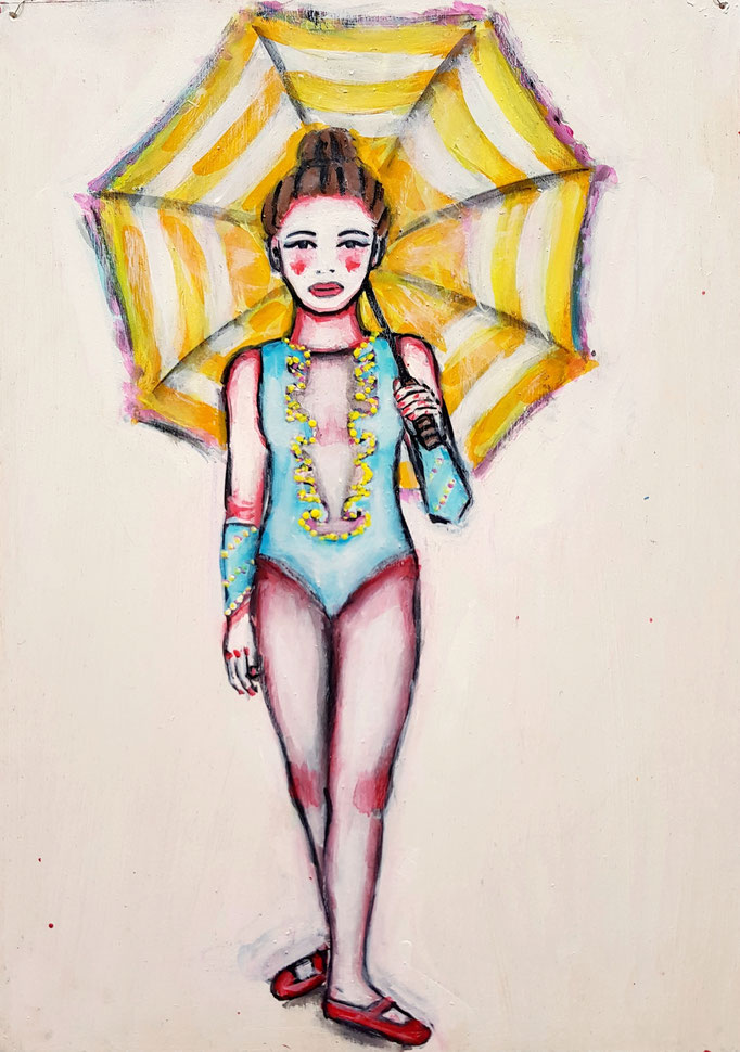 Umbrella, Vorlage: Mary Ellen Mark, A4, 700Fr.
