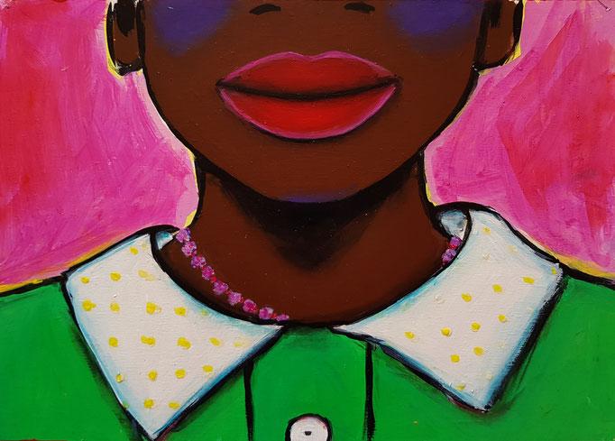 Mädchen, Vorlage: Ami Vitale, A4, 300Fr.