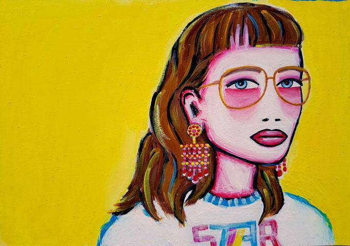 Brillenmädchen, A4