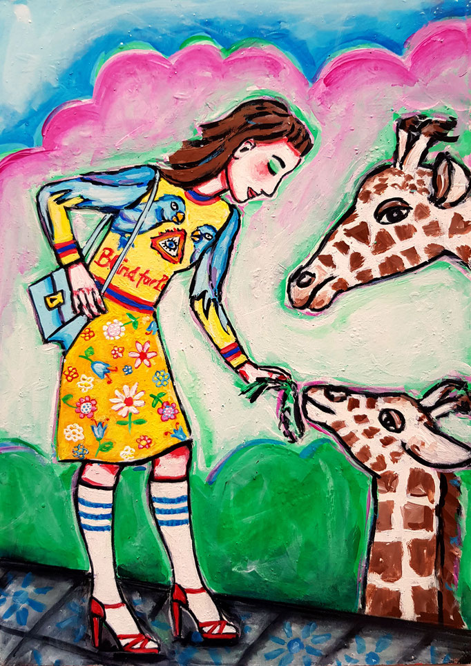 Giraffe, Gucci, A4, 500Fr.