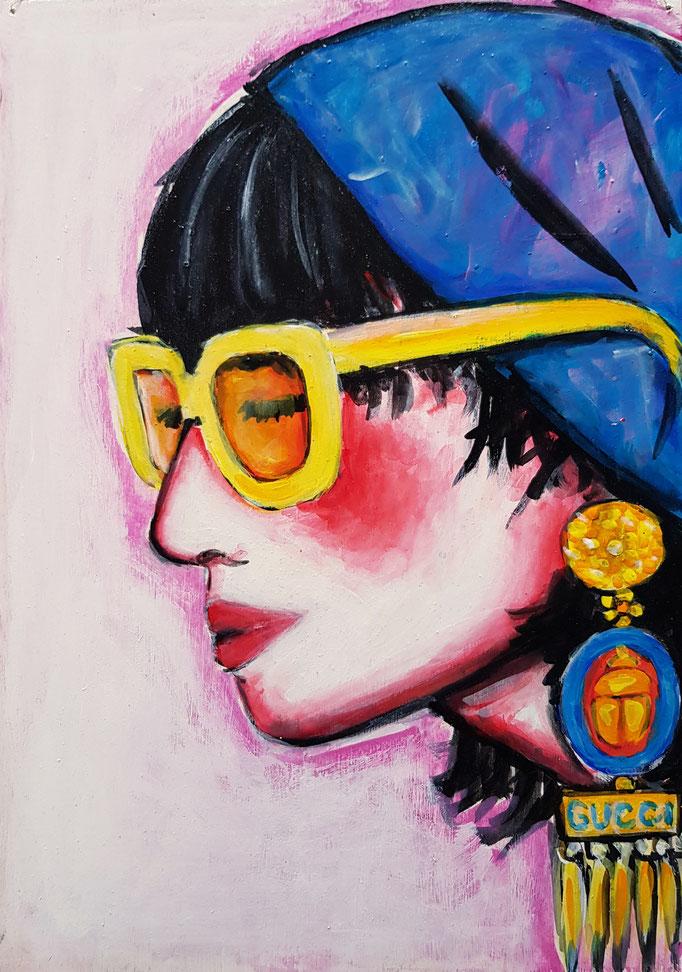 Sonnenbrille, Vorlage: GUCCI, A4