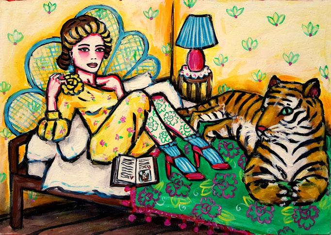 Tiger im Bett, Vorlage: Gucci, A4
