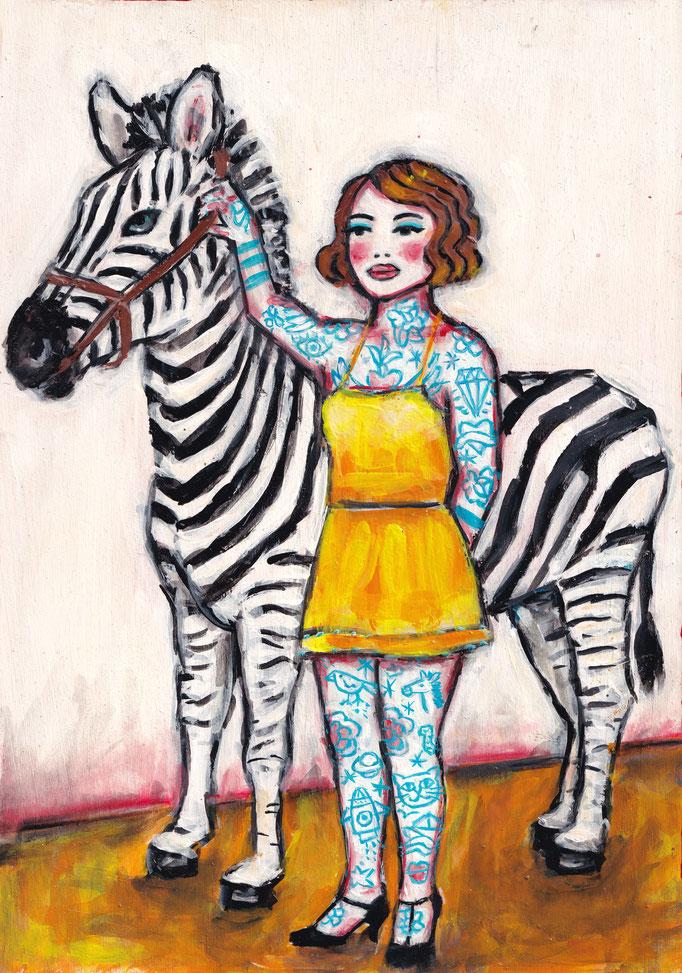 Zebramädchen, Vorlage: Miss Artorio, A4, 700Fr.