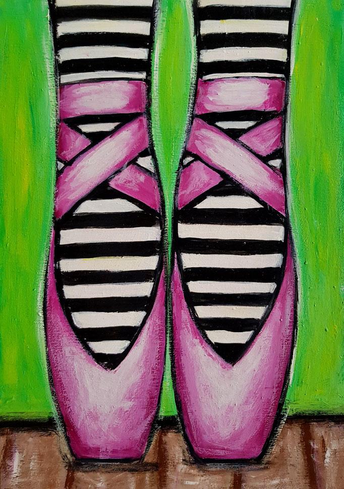 Ballettschuhe in Pink, A4, 350Fr.