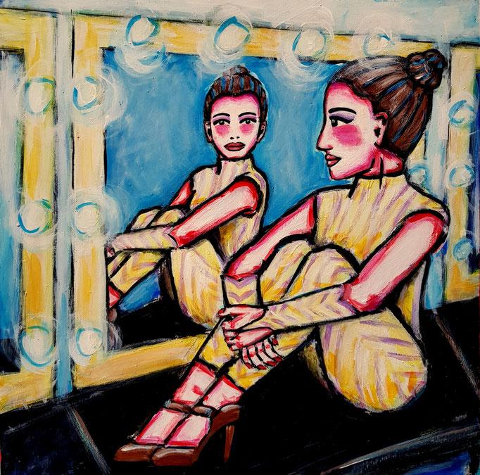 Spiegelbild, Yammel, 30x30cm, 500Fr.