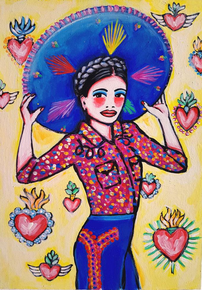 Mexikanerin, Vorlage: Lena Hoscheck, A4, 600Fr.
