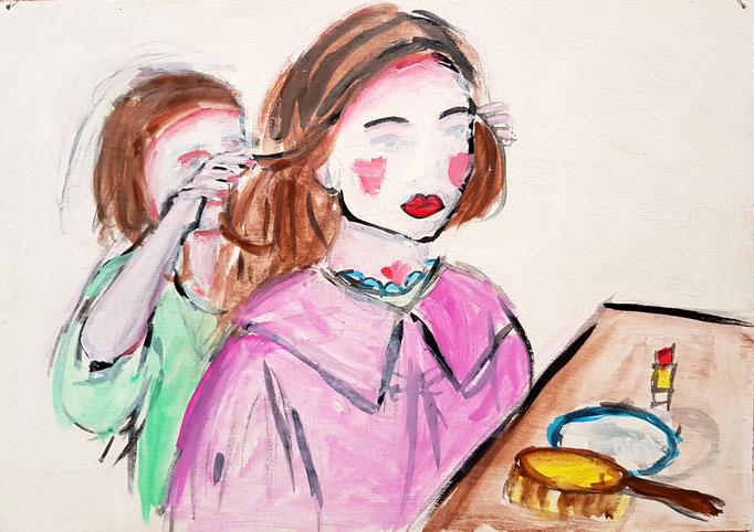 Kinderschminken, Vorlage: Holly Andres, A4, 100Fr.