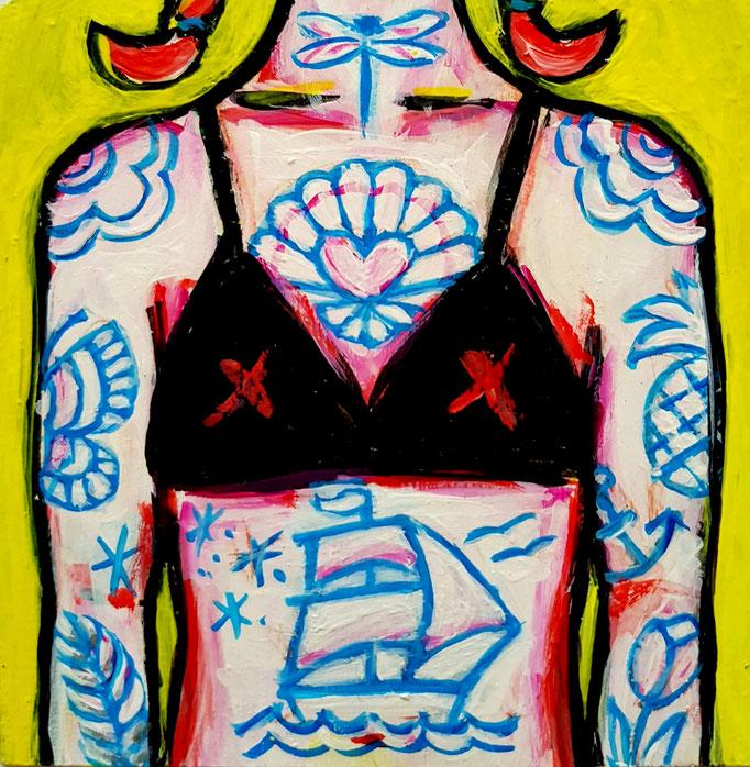 Bikini-Girl, 10x13cm