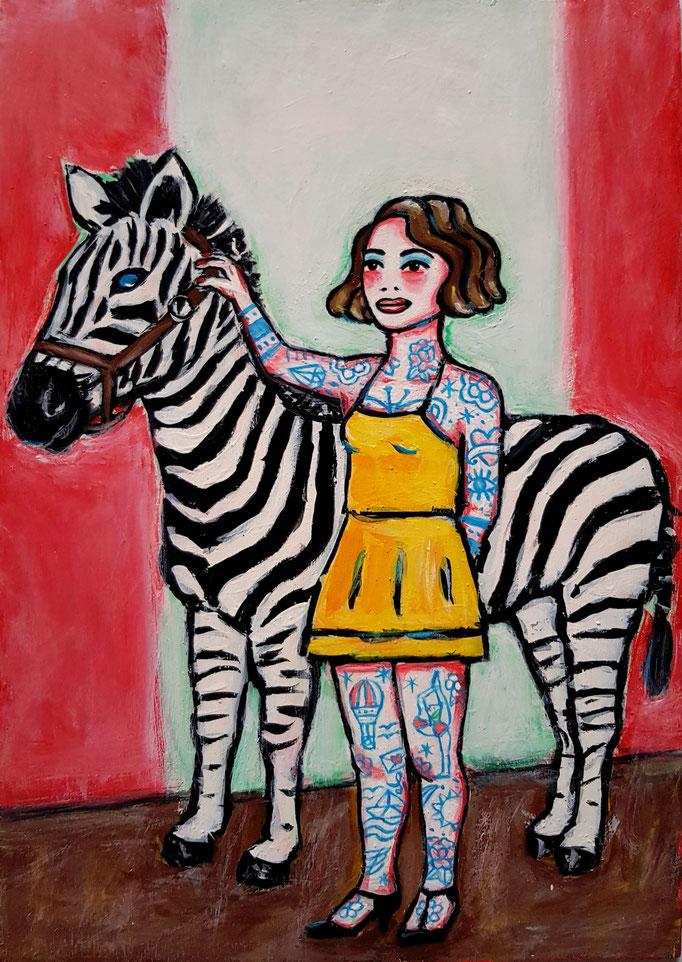 Zebramädchen, A4