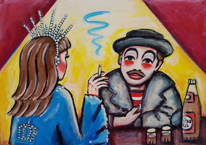 Prinzessin und Clown, Vorlage: Martin Linsi, 200Fr., A4