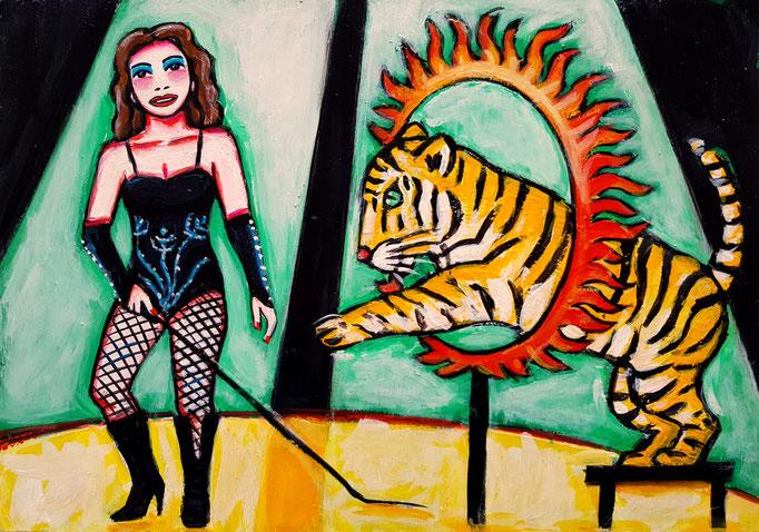 Tigerlady, Vorlage: Martin Linsi, A4