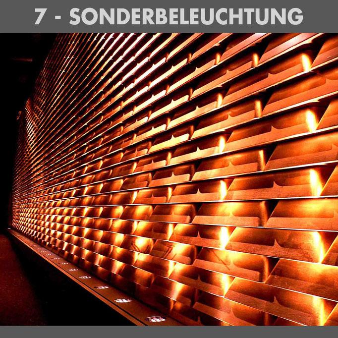 Goldbarren beleuchtet_Sonderbeleuchtung_Lichtarchitektur_Banking_Börse_Goldpreis_Gold_Lichtplanung_Lichtdesign