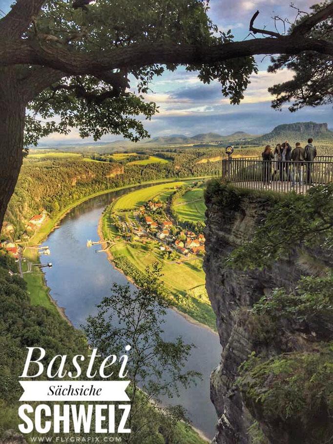 Aussicht auf der Bastei (2015).