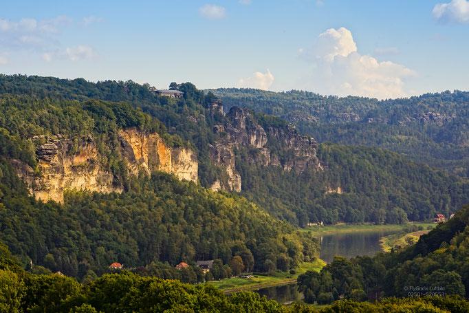 Blick von Wehlen in Richtung Bastei