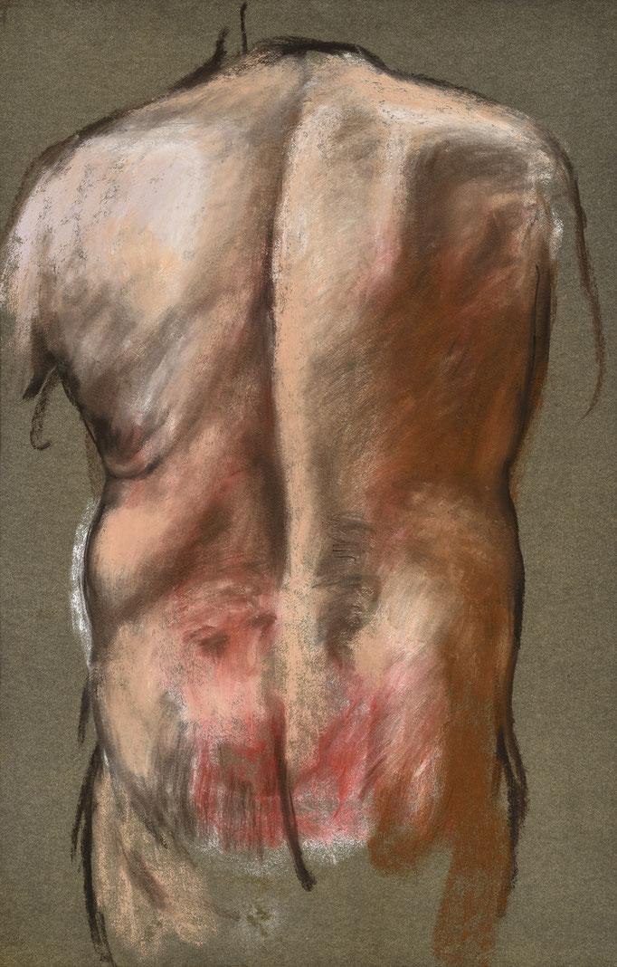 2013. 102 x 65 cm. Pastel sur papier marouflé sur toile.