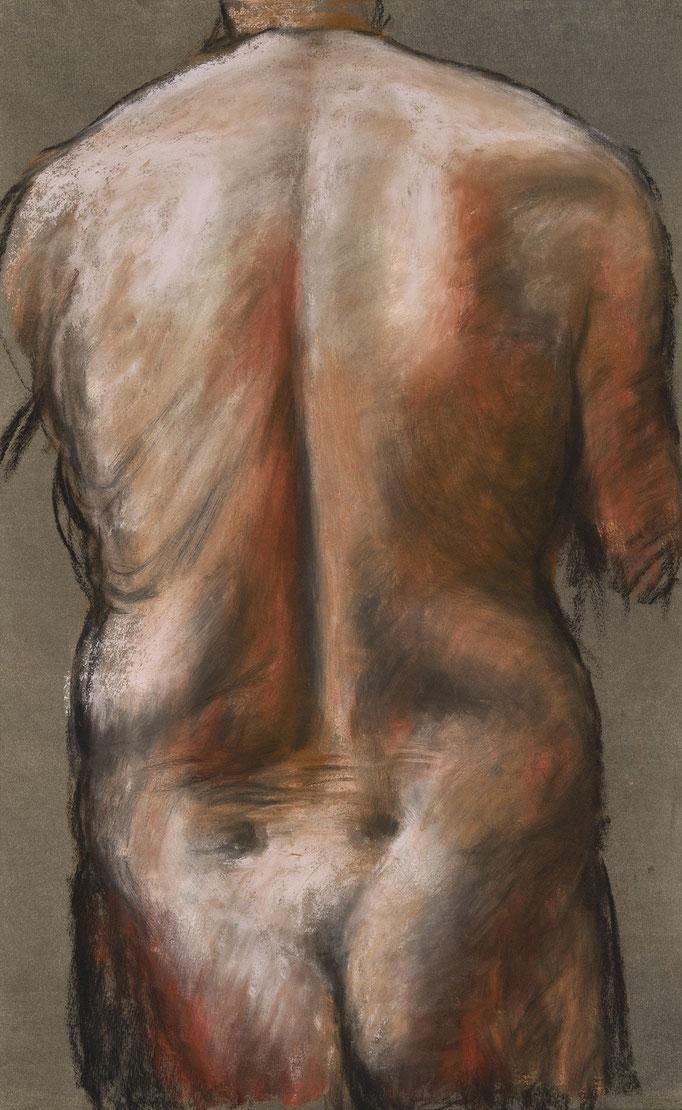2013. 103 x 64 cm. Pastel sur papier marouflé sur toile.