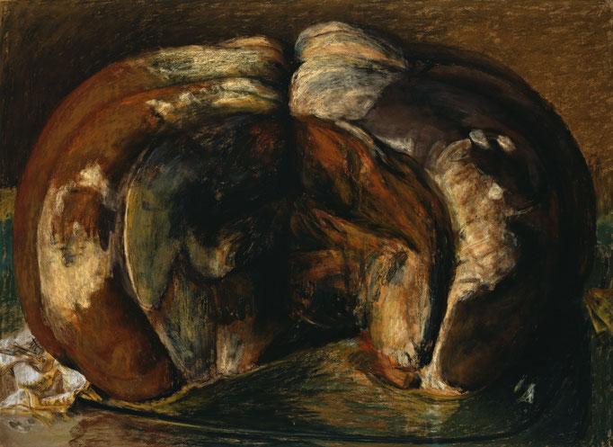 1997. 116 x 158 cm. Pastel sur toile marouflé sur toile.