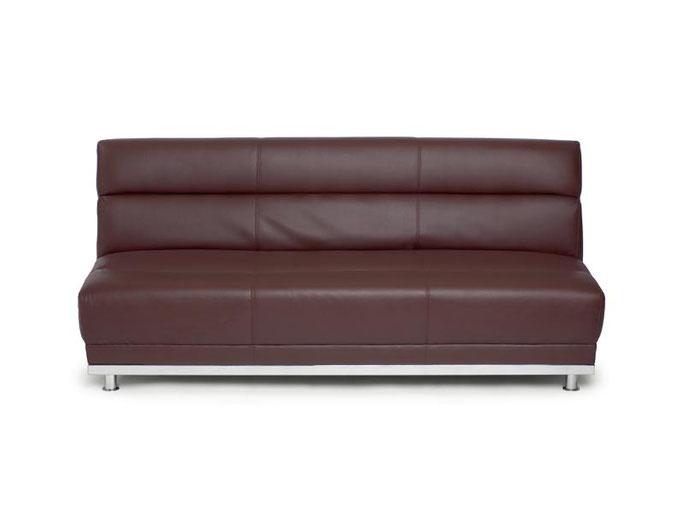 Lounge 3-Sitzer braun - H 85cm / B 190 / T 85