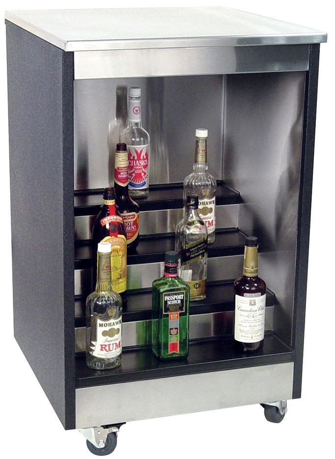 Mobiler Flaschenschrank für Catering