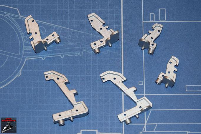 DeAgostini Bau deinen X-Wing Ausgabe 3 Cockpitrahmenteile (Metall)