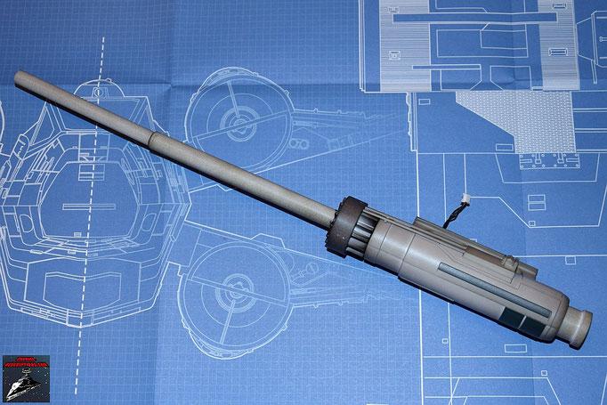 DeAgostini Bau deinen X-Wing Ausgabe 3 Das Kanonenrohr wird aufgesteckt