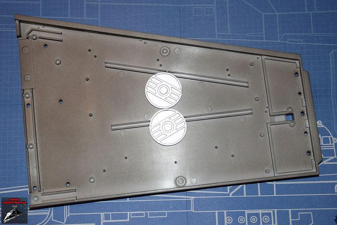 DeAgostini Bau deinen X-Wing Ausgabe 7 Die Energiekupplungen werden an der Innenseite des rechten Steuerbordflügels befestigt