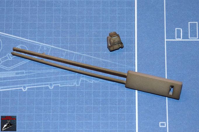 DeAgostini Bau deinen X-Wing Ausgabe 3 Laserkanone seitliche Details (Kunststoff)