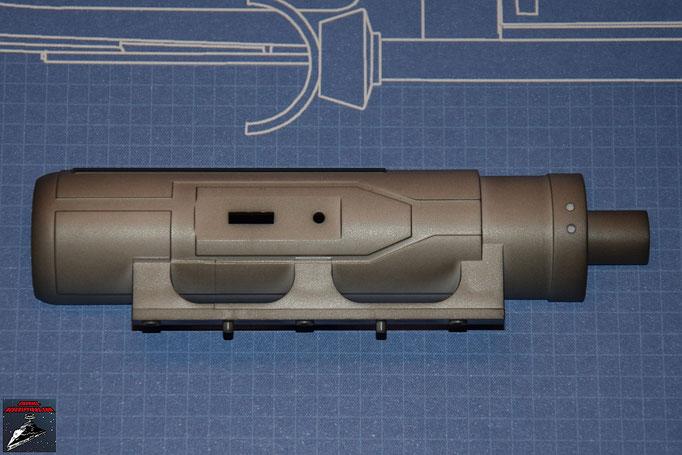 DeAgostini Bau deinen X-Wing Ausgabe 1 Gehäuse Laserkanone äußere Hälfte (Kunststoff)