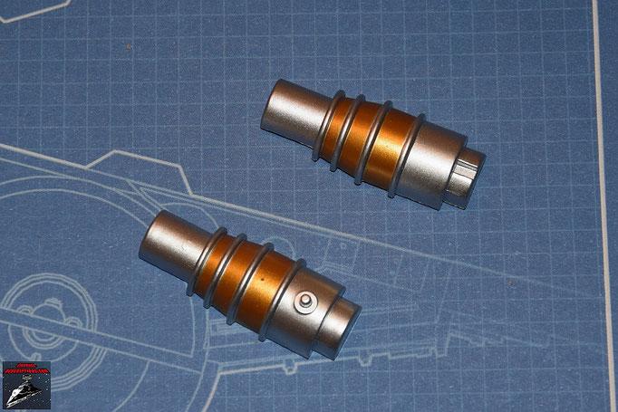 DeAgostini Bau deinen X-Wing Ausgabe 2 Innen- und Außenteil des des hinteren Teils des Lasergenerators (Kunststoff)