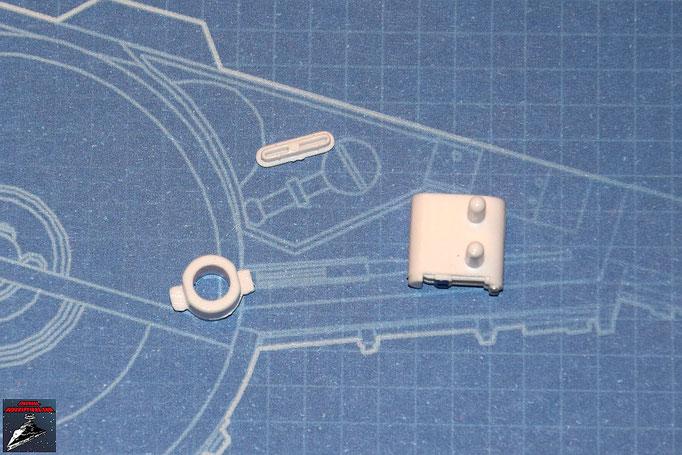 DeAgostini Bau deinen X-Wing Ausgabe 2 Beingelenk, Energiespeicher und Energiespeicher-Abdeckung R2-D2 (Kunststoff)