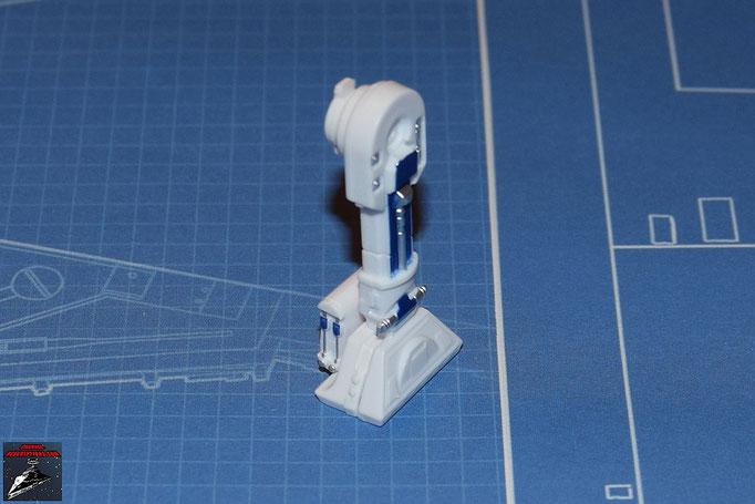 DeAgostini Bau deinen X-Wing Ausgabe 2 Das linke Bein von R2-D2 wird aus den bisherigen fünf Teilen zusammengesetzt