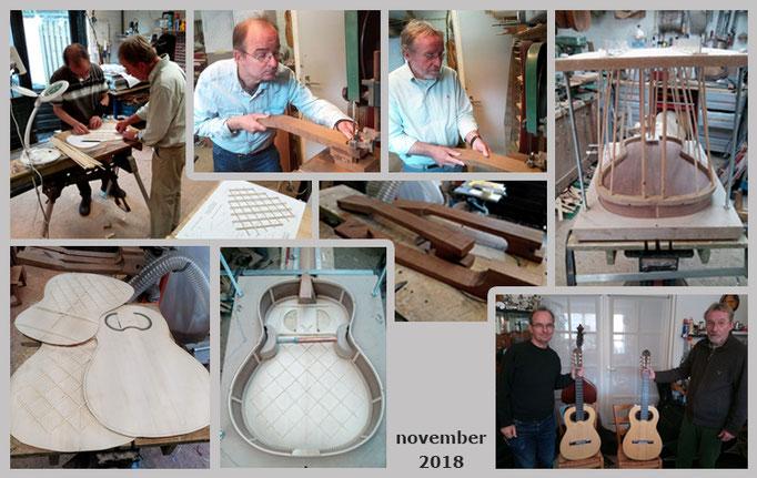 Bert en Mark | Workshop bouw van een klassieke gitaar, naar kopie van Francisco Simplicio
