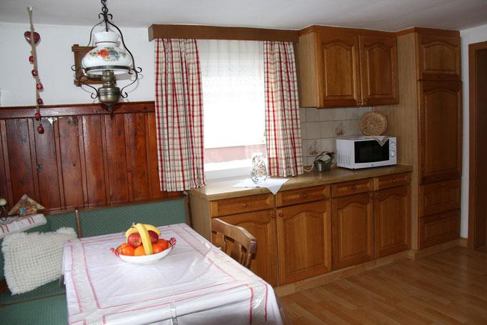 Küche im Ferienhaus Peterlhaus