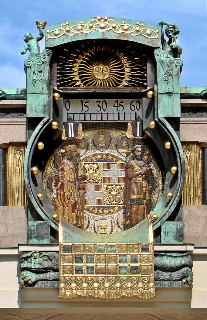 die Anker-Uhr am Hohen Markt in Wien