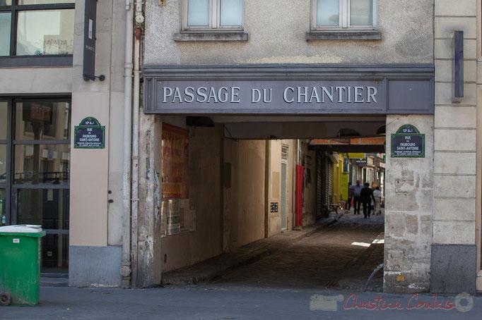 Rue du Faubourg-Saint-Antoine / Passage du chantier, Paris 12ème arrondissement