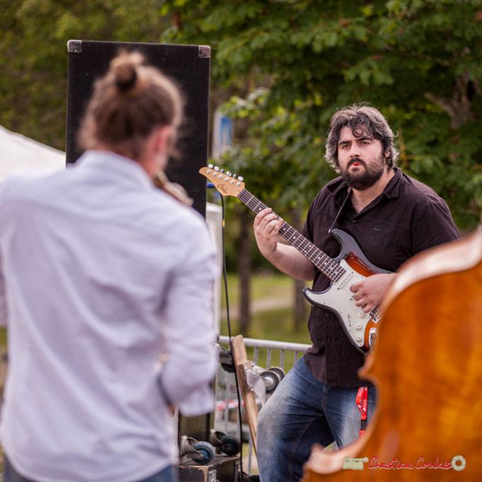 Valentin Foulon-Balsamo, Jean-François Valade; Docteur Nietzsche Quartet. Festival JAZZ360 2018, Cénac. 08/06/2018