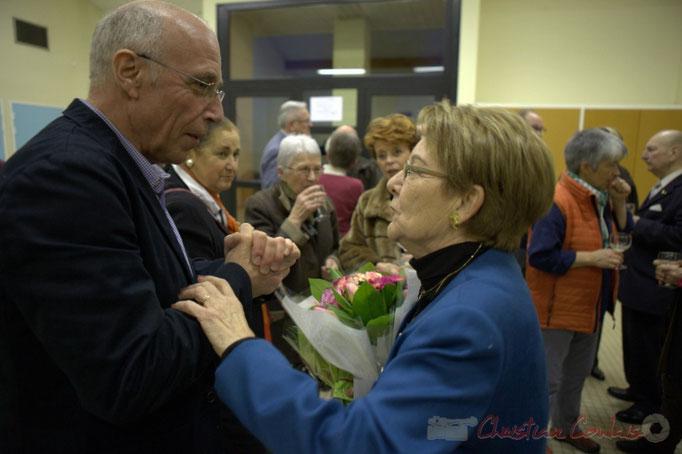 Bernard Pagès, maire de Madirac et Michèle Boutant