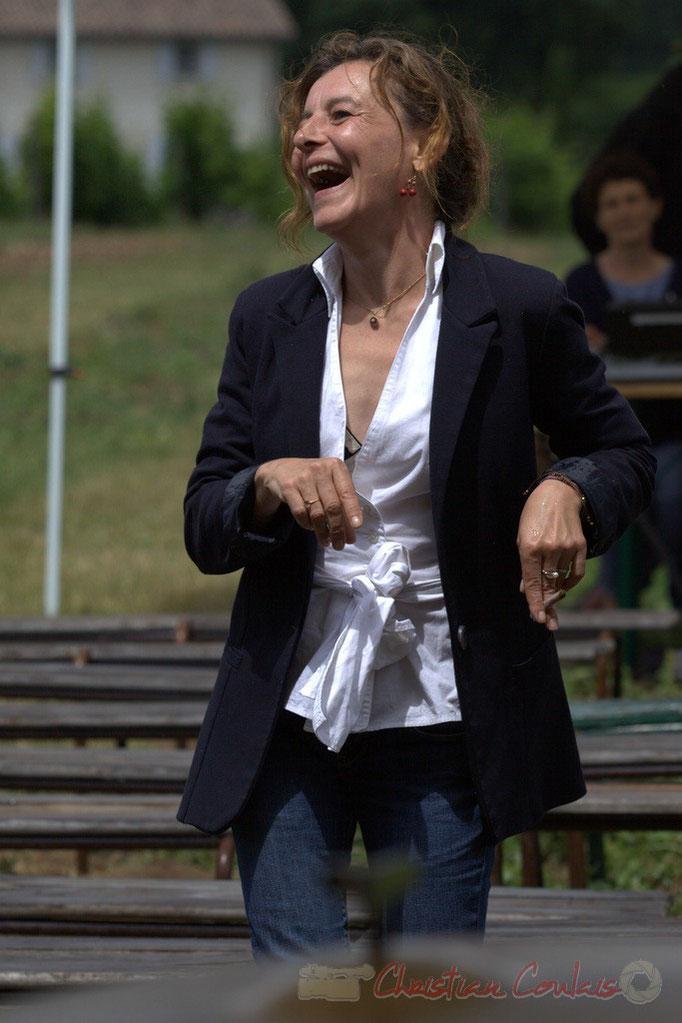 Festival JAZZ360 2015, Stéphanie Ventura-Fornos, adjointe au Maire de Quinsac. Le soleil est de retour sur le Château Lestange. 14/06/2015