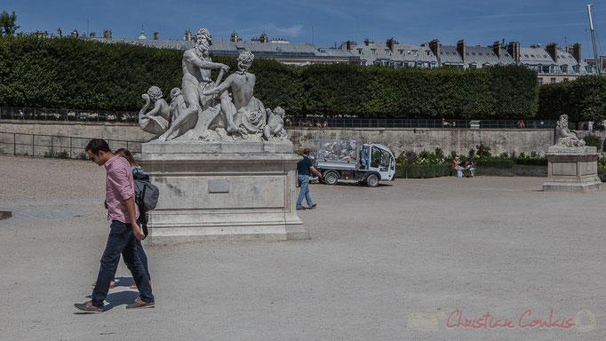 La Seine et la Marne, Nicolas Coustou, Jardin des Tuileries, Paris 1er