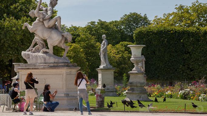 Le Centaure Nessus enlevant Déjanire, Marqueste Laurent Honoré Toulouse, Jardin des Tuileries, Paris 1er