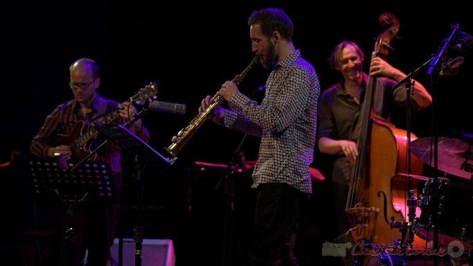 Festival JAZZ360 2015, Pierre Perchaud, Christophe Panzani, Jean-Claude Oleksiak; Jean-Claude Oleksiak Quartet, Cénac. 13/06/2015