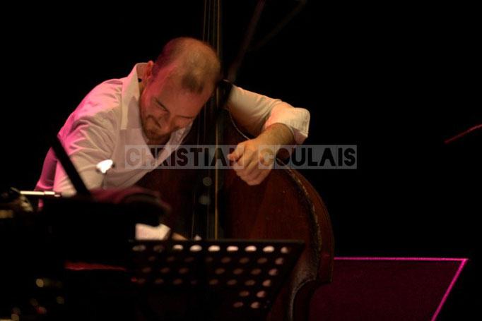 Sylvain Romano; Baptiste Herbin Quartet feat André Ceccarelli, Festival JAZZ360 2014, Cénac. 07/06/2014