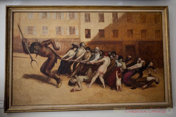 Les Parisiens tirant le diable par la queue, Jean Véber, Musée Carnavalet