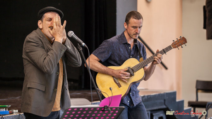 Cadijo et Ludovic Aristégui. Festival JAZZ360, Cénac. 05/06/2018