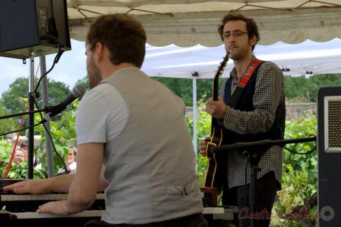 Festival JAZZ360 2015, Julien Bouyssou, Charlie Dufau; Electro Boots. Château Lestange, Quinsac. 14/06/2015