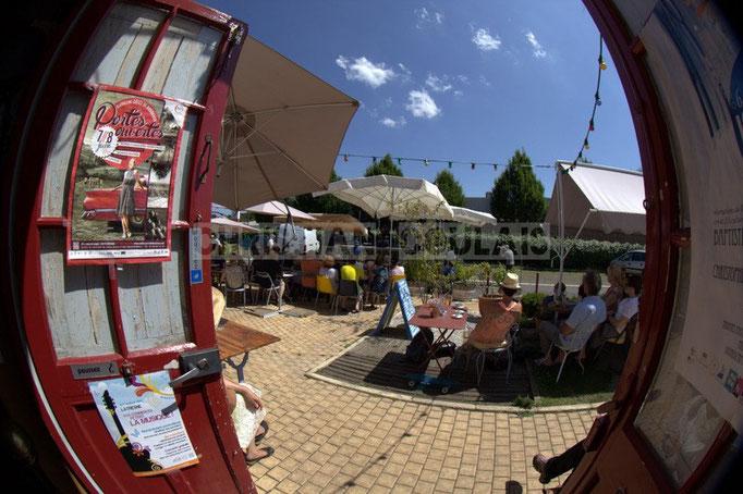 """""""Une ouverture culturelle"""" Festival JAZZ360 2014, piste cyclable Roger Lapébie, ancienne gare de Latresne, 08/06/2014"""