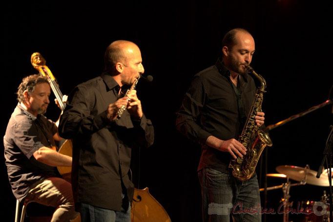 François Mary, Remi Poymiro, Mathieu Saint-Laurent; Slobodan Sokolovic Sextet. Festival JAZZ360 2012, Cénac. 08/06/2012