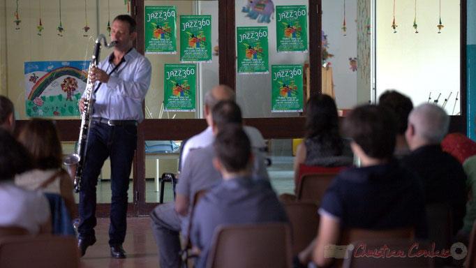 Festival JAZZ360 2015, Cénac, conférence jouée par Thomas Savy. 13/06/2015