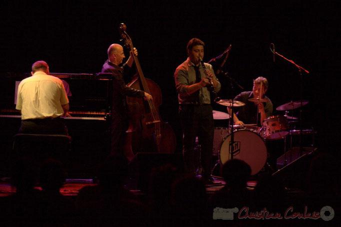 Alain Barrabès, Fred Lasnier, Jérôme Gatius, Guillaume Nouaux; Jérôme Gatius New Orleans Big Four, Festival JAZZ360 2013, Cénac. 07/06/2013